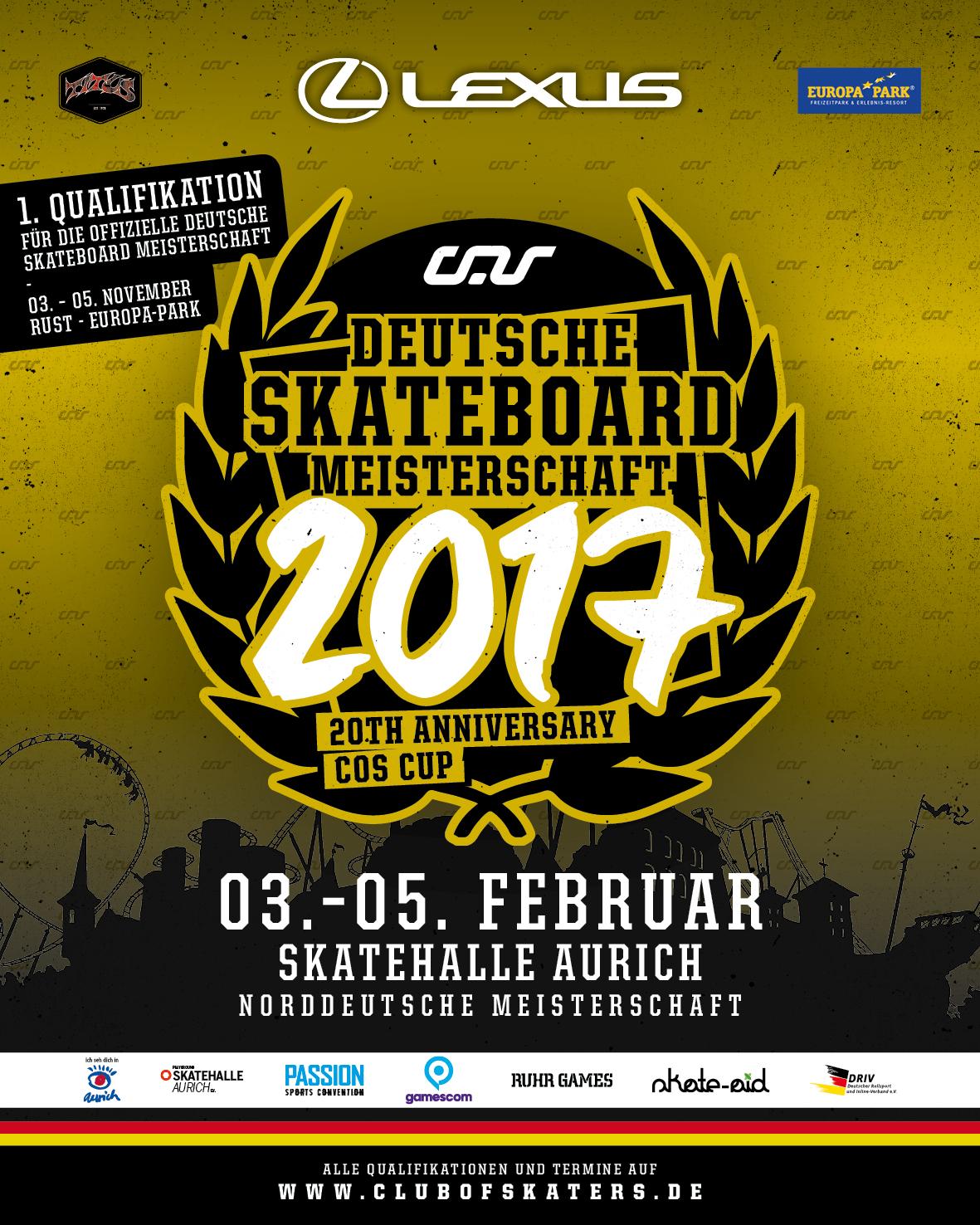 Norddeutsche Meisterschaft 2017 – Skatehalle Aurich