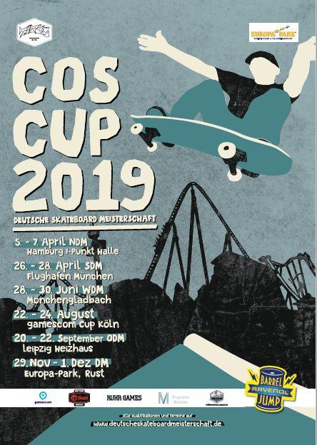 COS Cup 2019 – Die 22. Deutsche Skateboard-Meisterschaft startet bald!