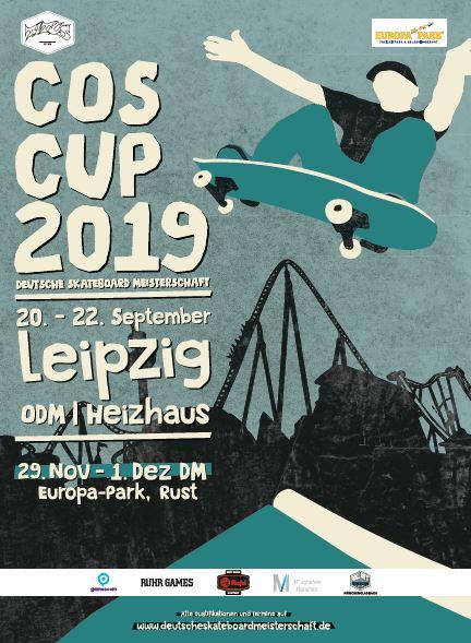 COS Cup 2019 – Die Ostdeutsche Skateboard-Meisterschaft im Leipziger Heizhaus bietet die letzte Qualifikationsmöglichkeit für die 22. Deutsche Skateboard-Meisterschaft!