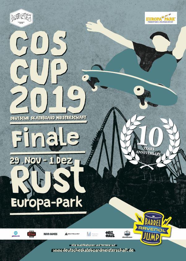 COS Cup 2019 – Die Deutsche Skateboard-Meisterschaft zum 10. Mal im Europa-Park in Rust!