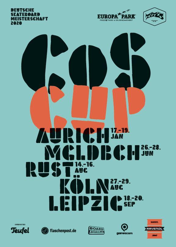 Der COS Cup 2020 startet mit der Norddeutschen Skateboard-Meisterschaft in Aurich!