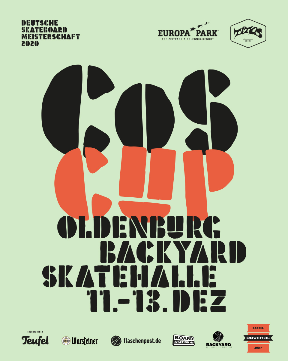 COS Cup-Finale 2020: Die 23. Deutsche Skateboard-Meisterschaft in der Skatehalle Oldenburg